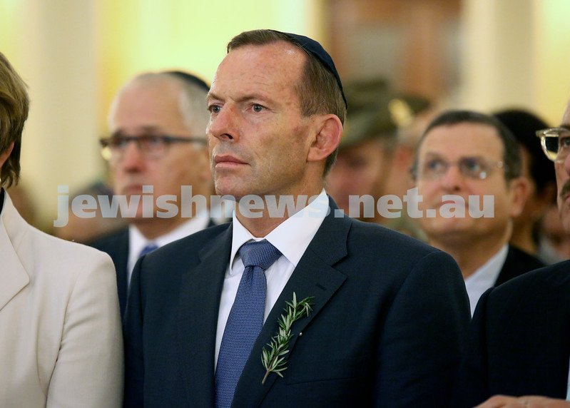 Anzac Centenary Commemorative Service of the NSW Jewish Community. Prime Minister Tony Abbott.