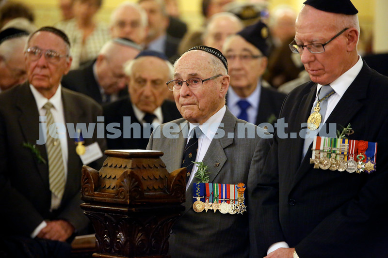 Anzac Centenary Commemorative Service of the NSW Jewish Community. Wesley Browne next to NSW Governor David Hurley.