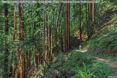 Dee on Soda Gulch Trail (later Craig Britton Trail)