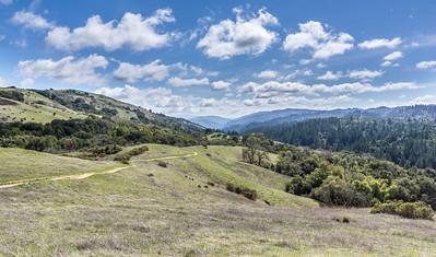 Vw down Stevens Creek Canyon, nice cloudsl