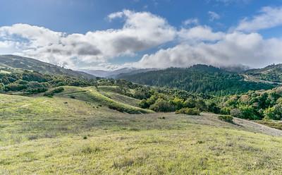 Vw down Stevens Creek Canyon, clouds