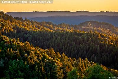 Sunset light on ridges