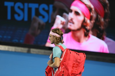 Stefanos Tsitsipas enters