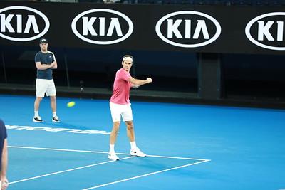 Roger Federer Warm Up