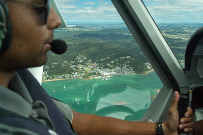 Returning to Pahia in our puddle-jumper air tour of the northern end of the North Island