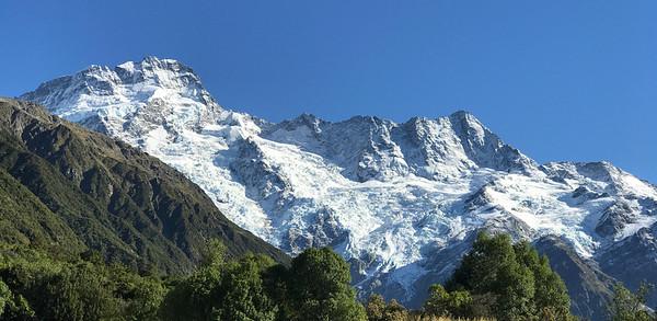 En route to Lake Tasman, the front edge of New Zealand's largest glacier.