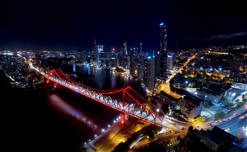 Brisbane & Story Bridge<br /> 6 image panorama
