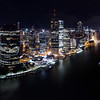 Brisbane by night<br /> 13 image panorama