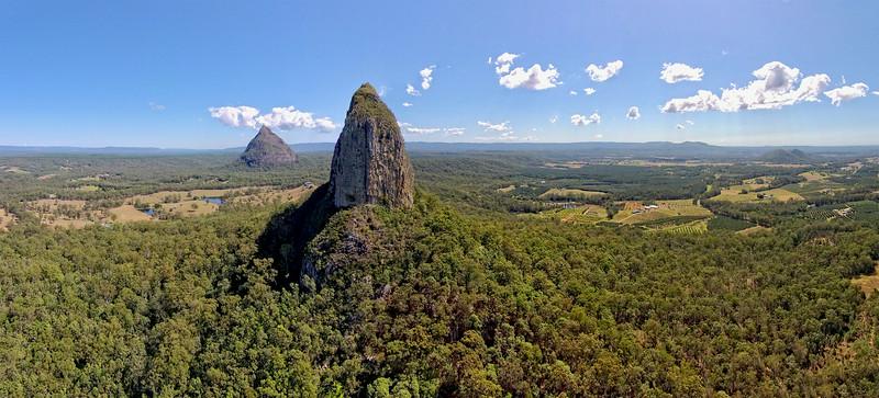 Crookneck - Mt Coonowrin with Mt Beerwah behind