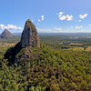 Crookneck - Mt Coonowrin with Mt Beerwah behind