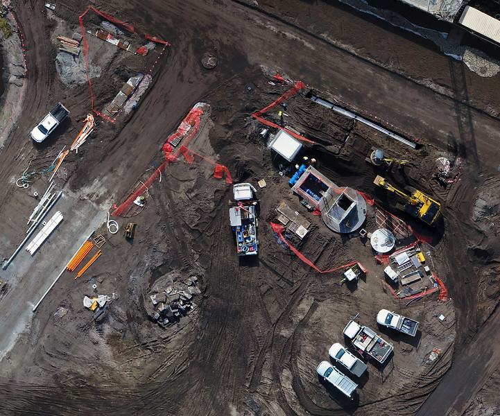 Detail of the 13 hectare construction site orthophoto