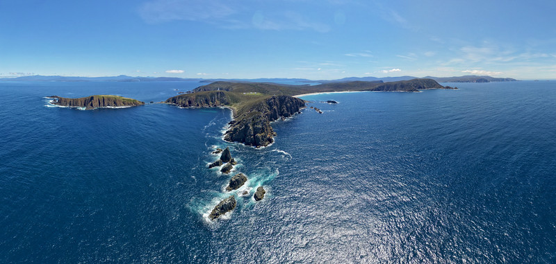 Cape Bruny - The end of the earth<br /> 55 images layered and stitched to make this panorama