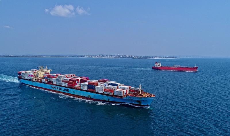 Maersk Virginia - 292 metres<br /> Grand Ace8 - 183 metres