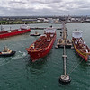 Excelsior Bay - 183 metres<br /> Burra - 32 metres<br /> Tingari - 32 metres<br /> STI Dama - 183 metres<br /> Stolt Yuri - 127 metres