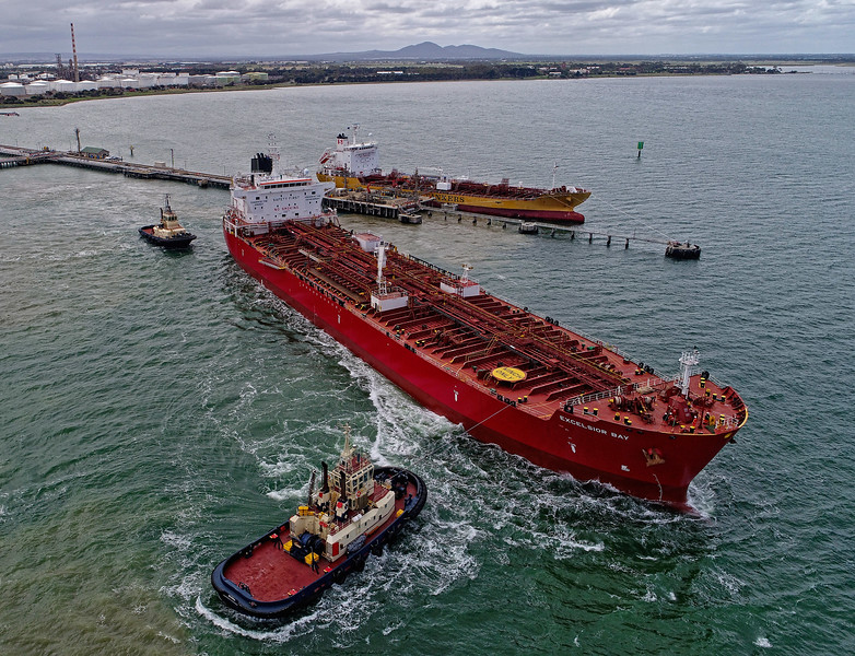 Excelsior Bay - 183 metres<br /> Burra - 32 metres<br /> Tingari - 32 metres<br /> Stolt Yuri - 127 metres