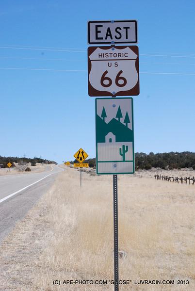 EAST BOUND ON HISTORIC US 66