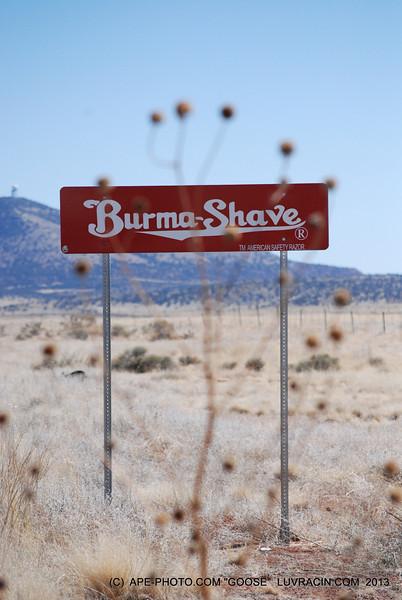 Burma-Shave (R) all look great and no gun shot holes !