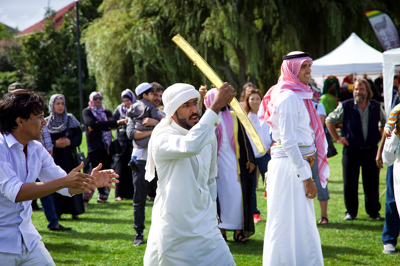 Saudi swordsman at the  Auckland Cultural Festival