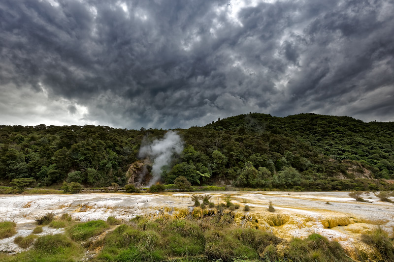 Marble Terrace in Waimangu Volcanic Valley near Rotorua