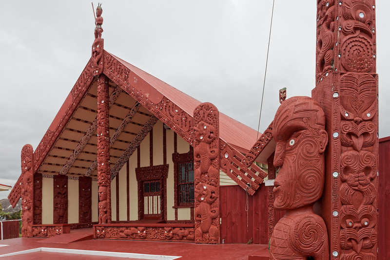 Maori Marae at Ohinemutu in Rotorua