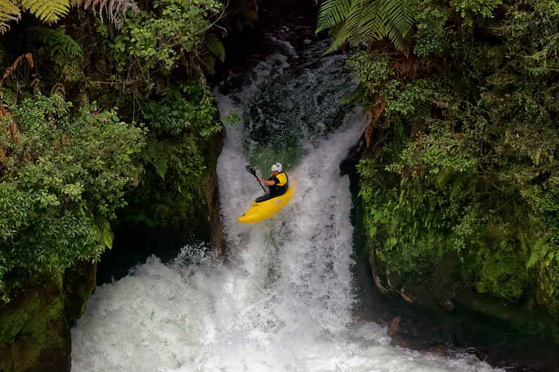 Tutea Falls on the Okere Falls river system near Rotorua in New Zealand's North Island is the highest commercial rafting drop in the world at 7 metres.