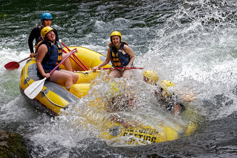 Fun on  Okere Falls river system near Rotorua