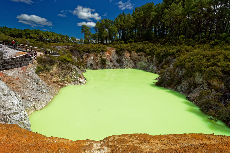 The Devils Bath at  Wai-O-Tapu Thermal Wonderland