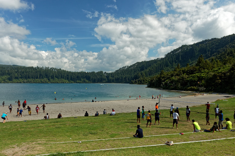 Games by the Blue Lake at Rotorua