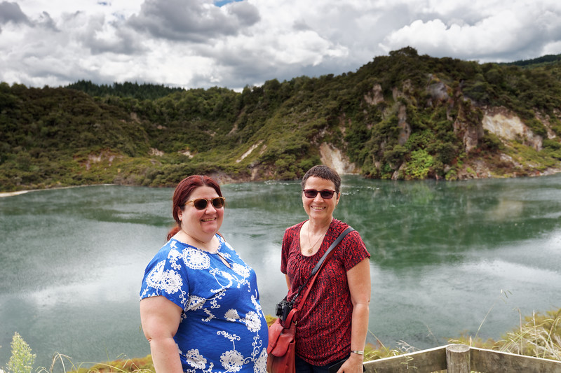 At Frying Pan Lake in the Waimangu Volcanic Valley