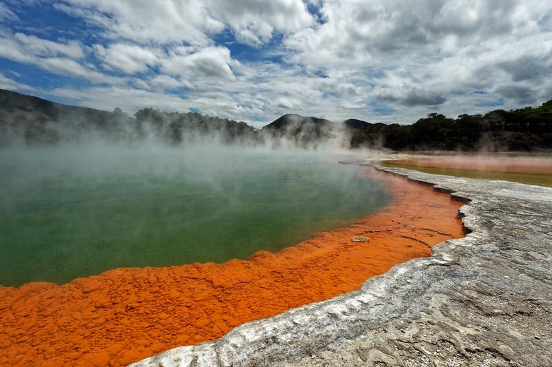 Champagne Pool in Wai-O-Tapu Thermal Wonderland near Rotorua