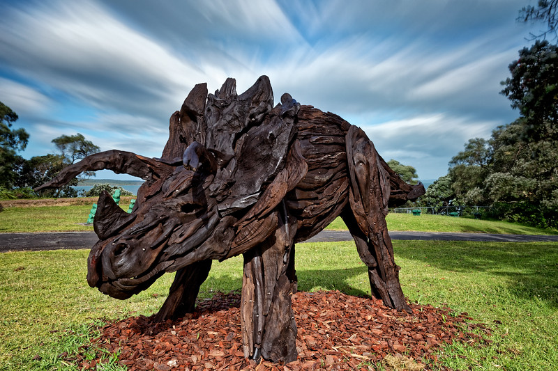 Triceratops by Jack Marsden-Meyer, Sculpture On Shore