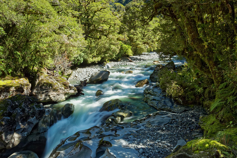 The Chasm, down which this river disappears, Fiordland National Park