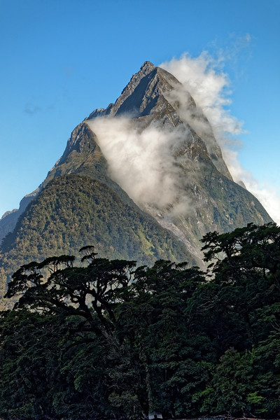 Mitre Peak in Fiordland National Park