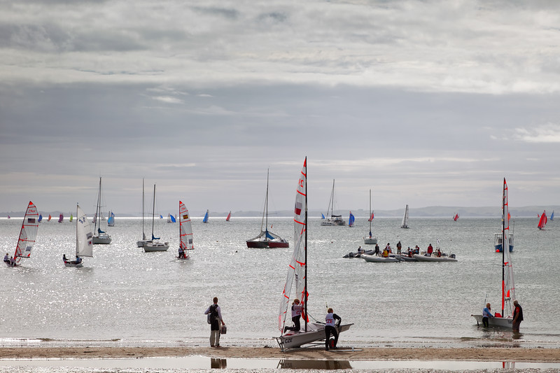 Sailing regatta at Waike Beach, Torbay