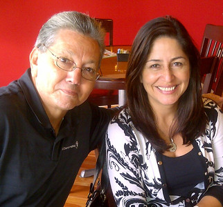 George Aranda joins Sandra Tobon,from Hispanic Unity, for the delightful lunches provided by On The Menu Cafe, at the Atrium Centre in Davie. We were all spoiled with the wonderful food and intriguing conversations!