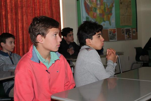 7th Grade History Class- Guest Speaker: Mr. Escalante