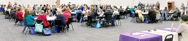 Kevin Harvison | Staff photo<br /> A packed room is photographed for the Child Abuse Prevention Conference Friday at the Southeast Expo Center.