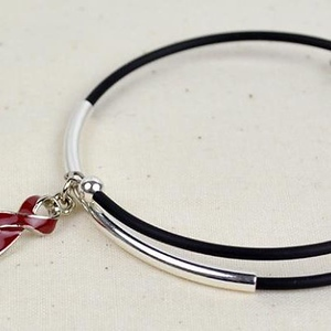 Inspire Awareness Wrap Bracelet with Ribbon Charm
