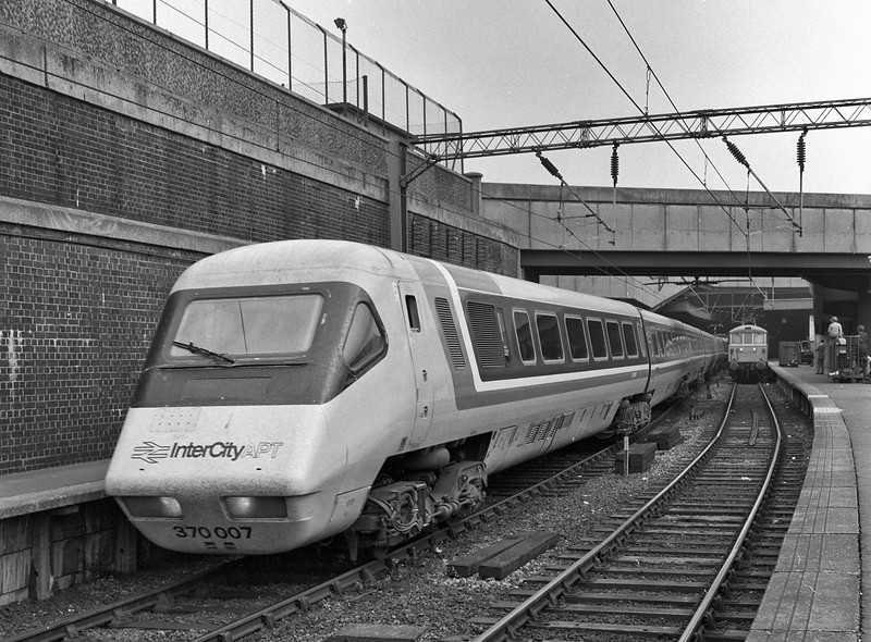 370007 running out from Euston ECS, on 24th August 1984. Scanned negative.
