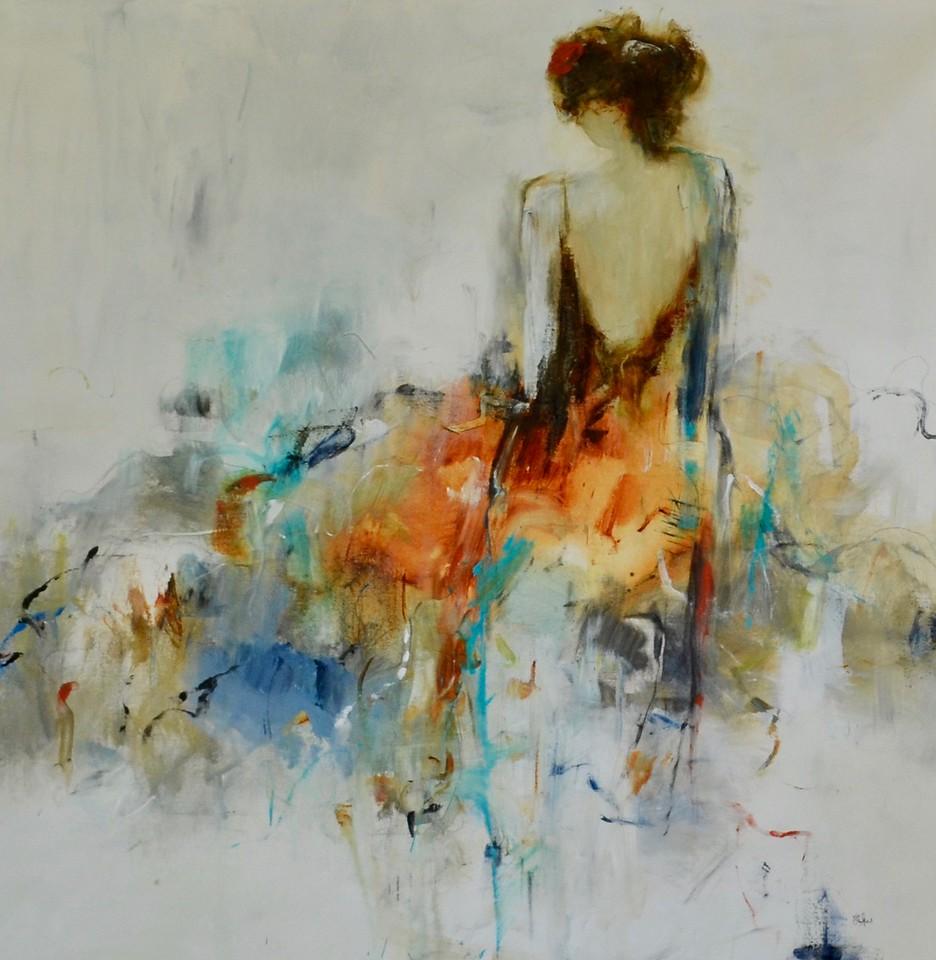 Romance & Reflection-Ridgers, 48x48 on canvas (AEAZAS17-3-06)