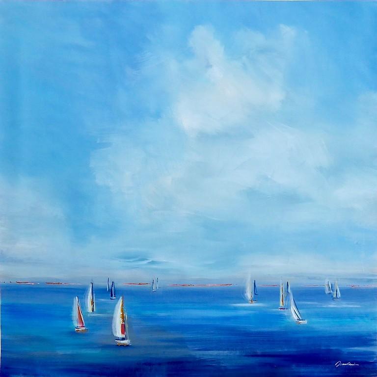 Catching the Wind-Jardine, 40x40 on canvas