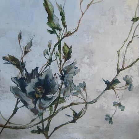 Hidden Beauty I-Jardine,  20x20 canvas