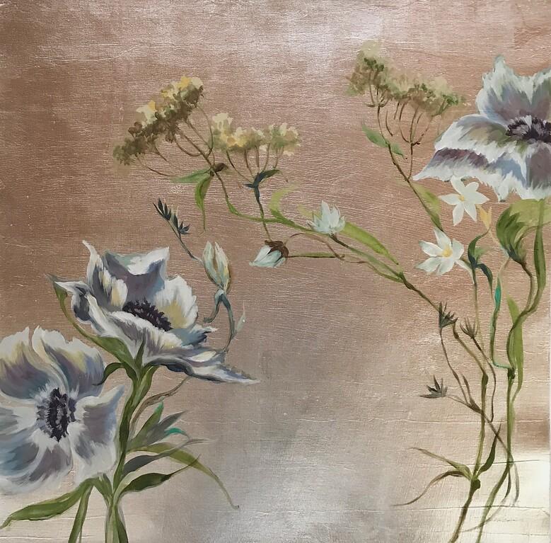 "Spring Awakening III-Jardine, 24""x24"" on canvas"