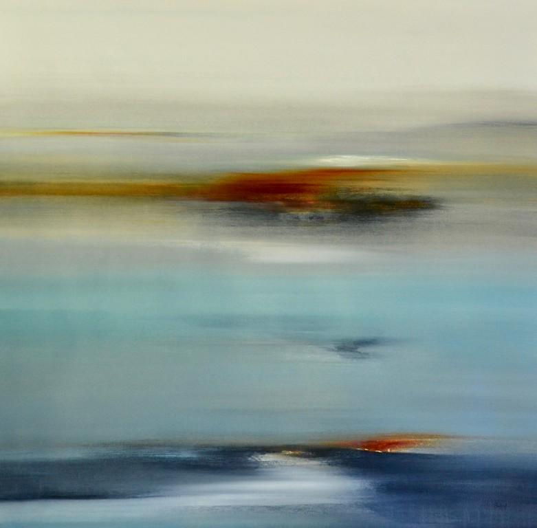 "Calm Days II-Ridgers, 48""X48"" acrylic painting on canvas"