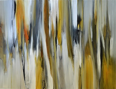 "Metallic Dreams II-Ridgers, 38""x50"" painting on canvas"