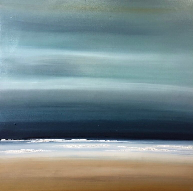 Ocean Tide IV-Hochstatter, 40x40 on canvas