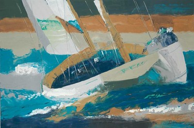 STormy Seas-Burrows, 40x60 on canvas
