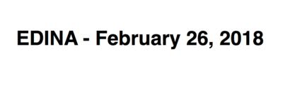 Edina - February 26, 2108