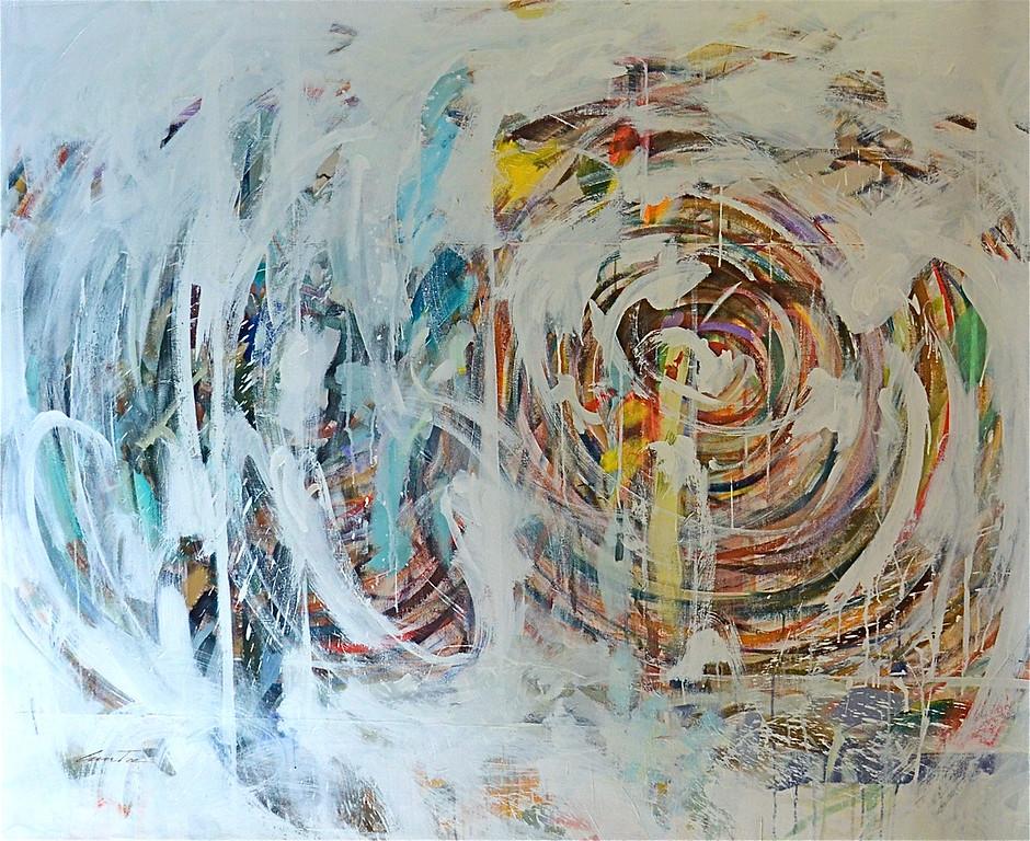 "Concrete Existence-Stone, 66""x54"" on canvas (AEDJC16-11-11)-X3"