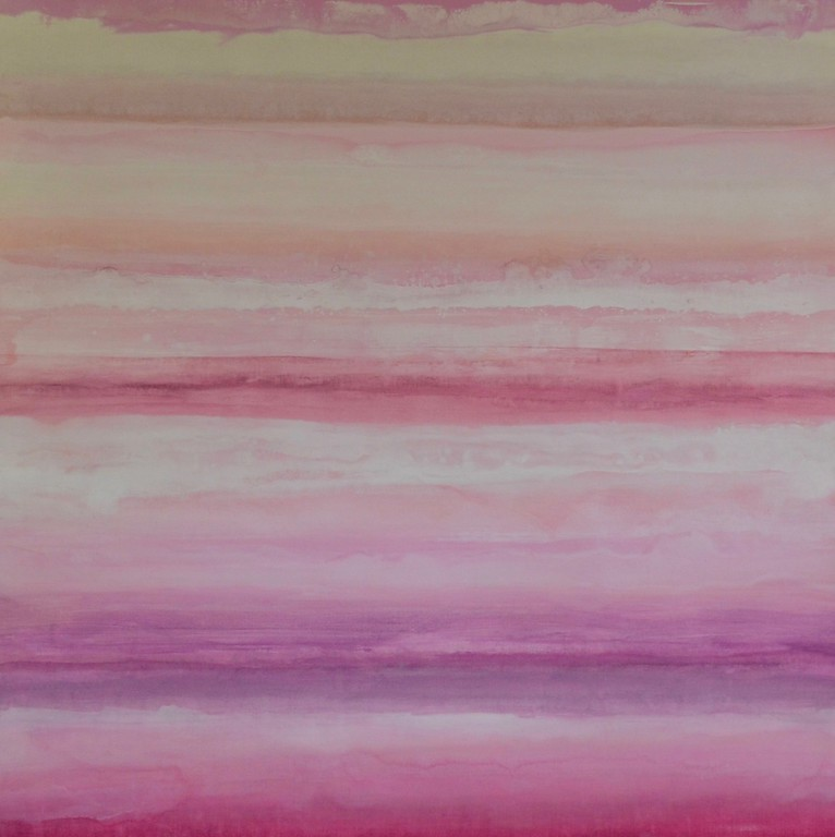Pink Oasis-Hibberd, 40x40 on canvas (AERS17-2-05)